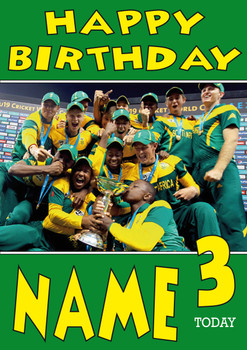 South Africa Celebration Personalised Card