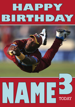 West Indies Catcher Personalised Card