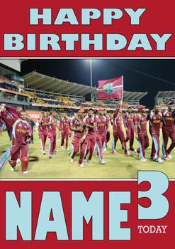 West Indies Personalised Card
