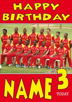 Zimbabwe Cricket Personalised Card