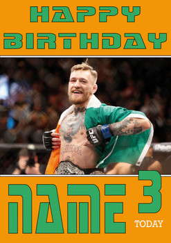 Conor Mcgregor Personalised Card