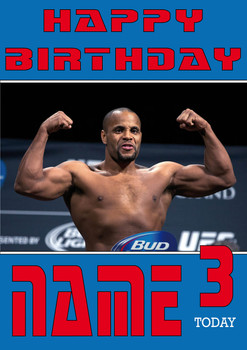 Daniel Cormier Personalised Card