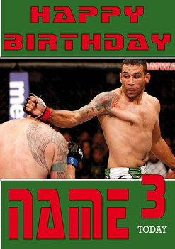 Fabricio Werdum Personalised Card