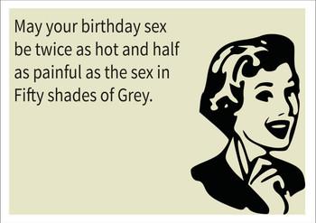 Birthday Sex Personalised Birthday Card