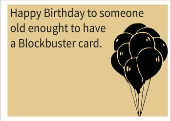 Blockbuster Card Personalised Birthday Card