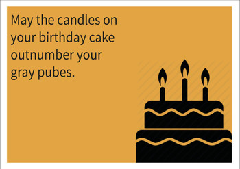 Candle Number Personalised Birthday Card