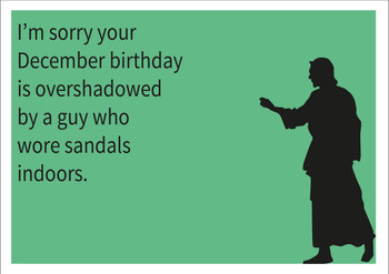 December Birthday Personalised Birthday Card