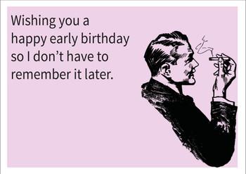 Early Birthday Personalised Birthday Card