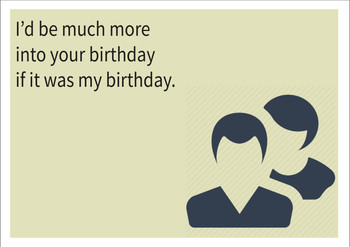 If It Was My Birthday Personalised Birthday Card