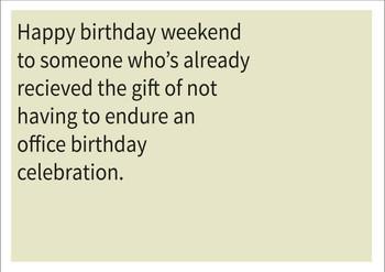 Office Birthday Celebration Personalised Birthday Card