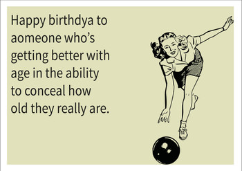 Conceal Their Age Personalised Birthday Card