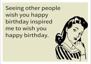 Inspired Happy Birthday Personalised Birthday Card