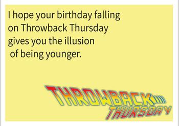 Tbt Personalised Birthday Card