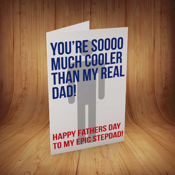 Happy Fathers Day Stepdad Personalised Birthday Card