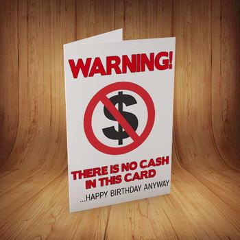 No Cash Inside Personalised Birthday Card