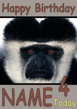 Boob Monkey Personalised Birthday Card