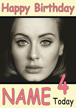 Adele Personalised Birthday Card