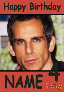 Ben Stiller Personalised Birthday Card