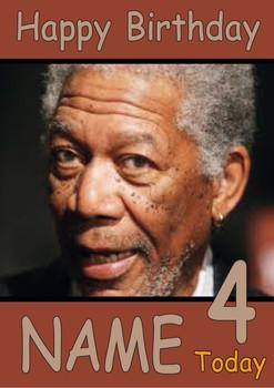 Morgan Freeman Personalised Birthday Card