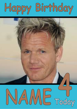 Gordon Ramsey Personalised Birthday Card