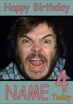 Jack Black Personalised Birthday Card