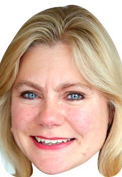 Justine Greening Uk Politician Face Mask