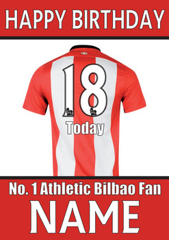 Athletic Bilbao Fan Happy Birthday Football