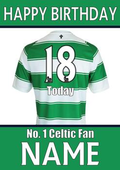 Celtic Fan Happy Birthday Football