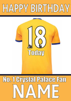 Crystal Palace Fan Happy Birthday Football