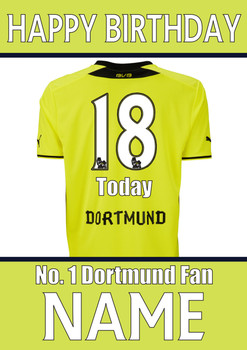 Dortmund Fan2 Happy Birthday Football