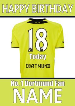Dortmund Fan Happy Birthday Football