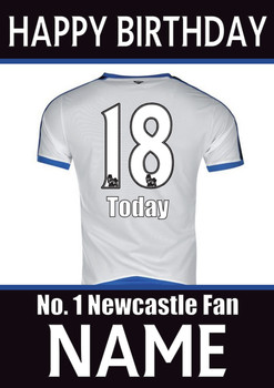 Newcastle Fan Happy Birthday Football
