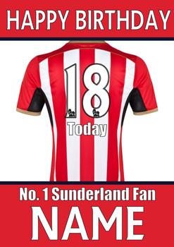 Sunderland Fan Happy Birthday Football