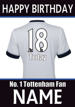 Tottenham Fan Happy Birthday Football
