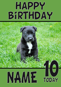 Black Cute Puppy Dogs And Puppies Happy Birthday