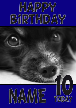 Black Nose Puppy Dogs And Puppies Happy Birthday