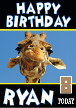 Giraffe Funny New Birthday Card