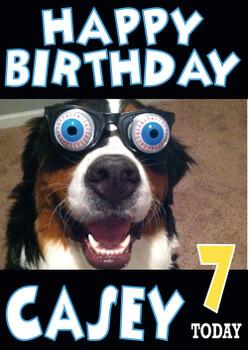Dog Glasses Funny Birthday Card