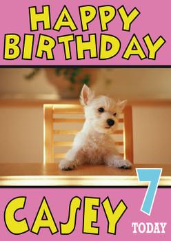 Westie Puppy Cute Birthday Card