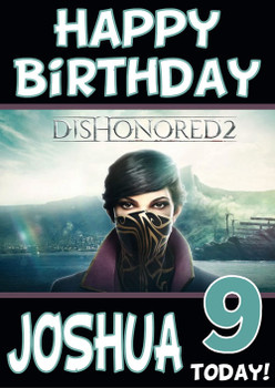 Dishonoured 2 Birthday Card