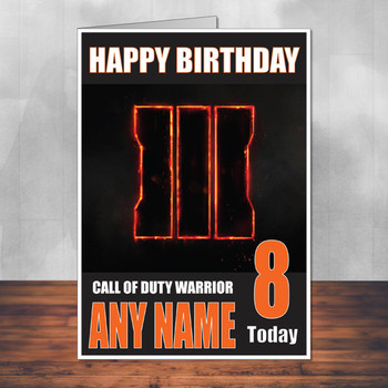 Call Of Duty Shaun 5 Personalised Birthday Card