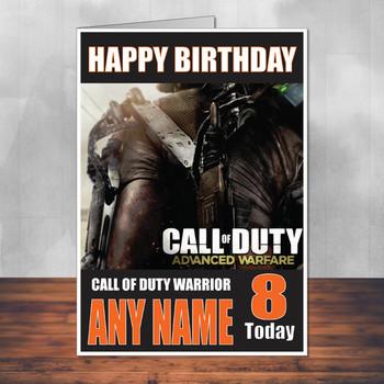 Call Of Duty Shaun 9 Personalised Birthday Card