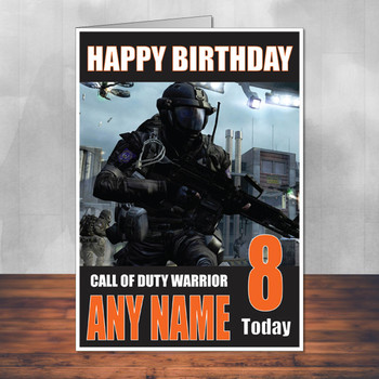 Call Of Duty Shaun 14 Personalised Birthday Card