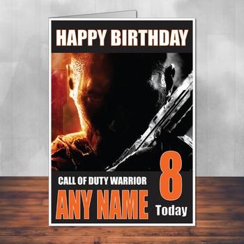 Call Of Duty Shaun 15 Personalised Birthday Card