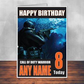 Call Of Duty Shaun 16 Personalised Birthday Card