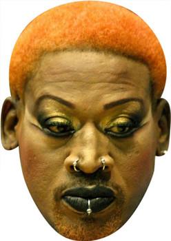 Dennis Rodman Orange Hair Tv Stars Face Mask