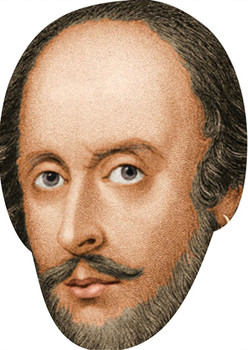 Shakespeare Celebrity Face Mask Party Mask