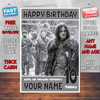 John Snow Card Sj Personalised Birthday Card