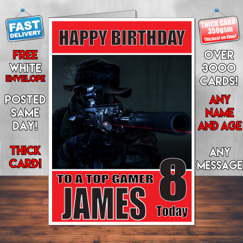 Battlefield 1 Bm Personalised Birthday Card