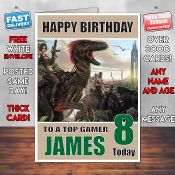 Ark Survival Evolve Bm1 Personalised Birthday Card